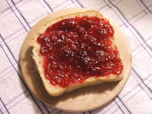 DSCF2960 - Raspberry jam on on bread